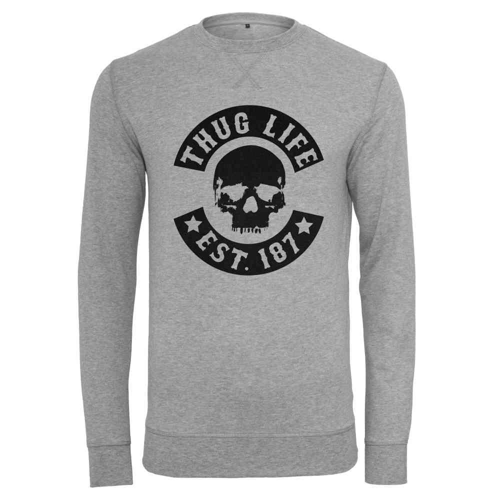 Thug Life Skull Crewneck grey